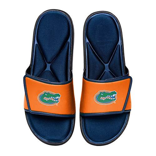 NCAA Florida Gators Mens Deluxe Foam Sport Shower Slide Flip Flop SandalsDeluxe Foam Sport Shower Slide Flip Flop Sandals, Team Color, Large/ Mens Size 11-12
