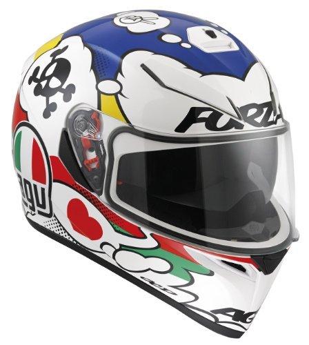 Agv K-3 SV Comic Helmet-Blue-Red-Black-White-L Large Blue-Red-Black-White