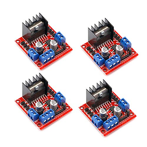 4Pack L298N Motor Drive Controller Board DC Dual H-Bridge Robot Stepper Motor Control and Drives Module for Arduino Smart Car Power UNO MEGA R3 Mega2560