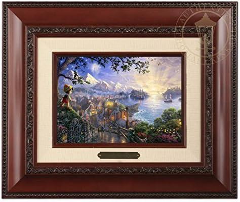 Thomas Kinkade Disney Pinocchio Wishes New product!! Import Star Br Brushwork a Upon