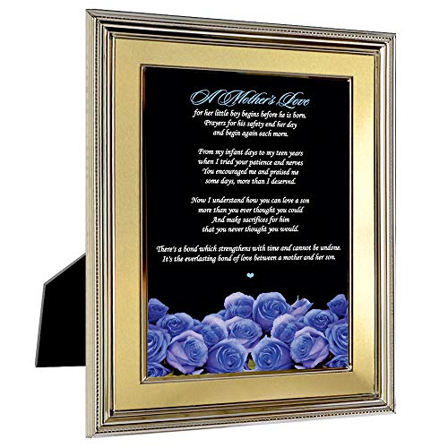 Best Mother Gift from Son - Blue Roses with Mom Poem for Mother's Day or Her Birthday