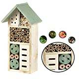 Heritage Fix On Insect Wooden Hotel Nest Home Bee Keeping Bug Garden Ladybird Box Hotel (2365 Green Small Insect Hotel)