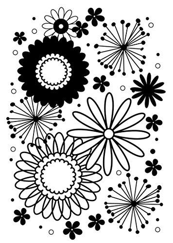 Darice Embossing Folder Mascherina Fantasia di Fiori, Plastic, Transparent, 12.7x17.8x0.3 cm