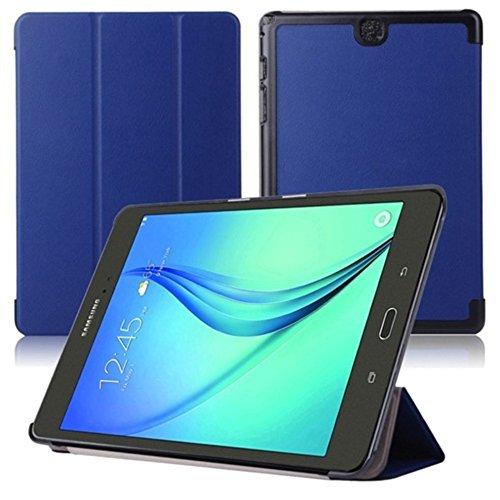 Lobwerk Hülle für Samsung Galaxy Tab A SM-T550 T551 T555 9.7 Zoll Schutzhülle Etui Tablet Tasche Smart Cover (Blau) NEU