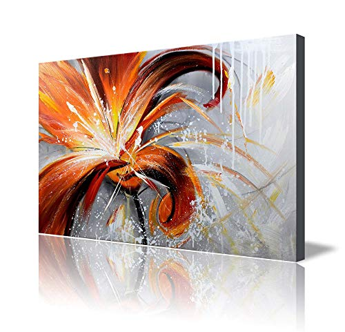 Top Contemporary Floral Canvas Wall Art