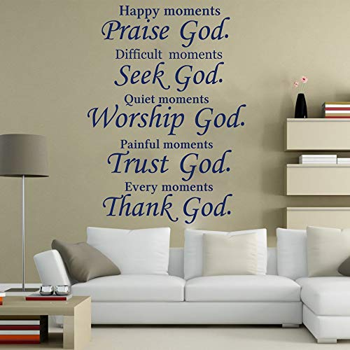 Wall Stickers For Classroom, Christian Praise Seek Bed Bible Verse Trust Decor Gift Art For Nursery Sticker Bedroom Decals Poster Artwork Print