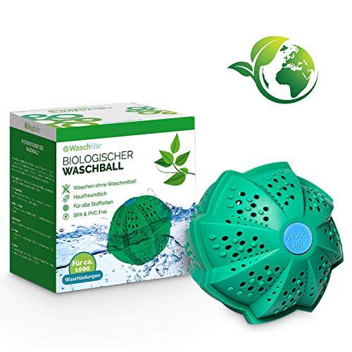 Waschklar® Waschkugel für Waschmaschine | Bio Waschball ohne Waschmittel [Plastikfrei & Nachhaltige Produkte für Allergiker] Jetzt Bestellen