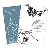 2er Set Trauerkarten mit Umschlägen Zweige