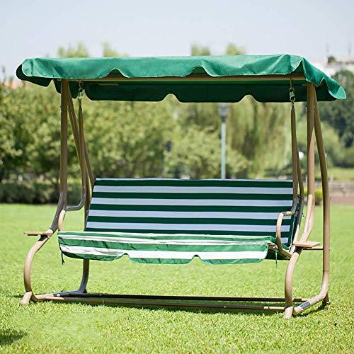 NOSSON Hängestuhl, Schaukel Hängematte jardín Patio silla asiento para Außenenterrassen verde blanco Rayas, b