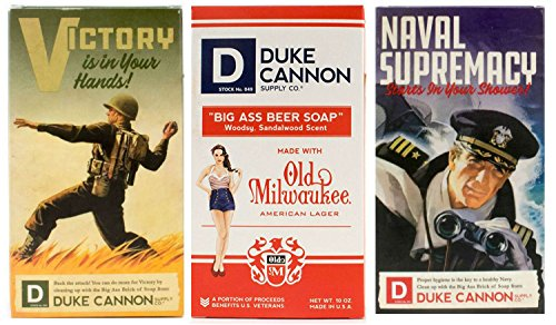 Duke Cannon Supply Co. - Big Ass Brick of Soap Variety Gift Set (3 Pack of 10 oz) Superior Grade Bar Soap Designed for Hardworking Men That HonorsMilitary Heritage