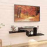 Klaxon Alyssum TV Entertainment Wall Unit/Wall Set Top Box Stand Shelf - Black