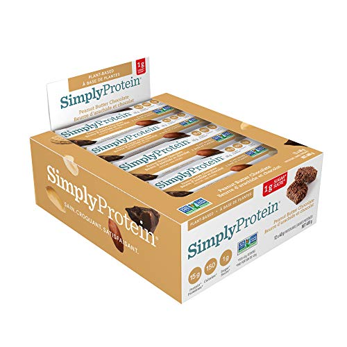 SimplyProtein - Protein Bars Box Peanut Butter Chocolate - 12 Bars