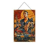 マッドマックスバンスケリーレジェンド木製のリストプラーク木の看板ぶら下げ木製絵画パーソナライズされた広告ヴィンテージウォールサイン装飾ポスターアートサイン