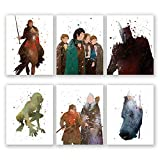 Poster Herr der Ringe – Set von 6 LOTR Home Decor Prints