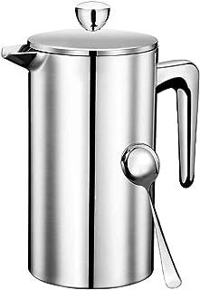 フレンチプレス エアロプレス フレンチプレス コーヒー コーヒープレス コーヒー プレス 紅茶 ポット アメリカンプレス フレンチプレスコーヒー french press ステンレス ダブルウォール 二重構造 手動式 (銀-350-FR)