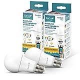 Garza Smarthome - 2 Bombillas LED Estandar Intelegente Wifi E27, luz blanca neutra regulable con cambio de intensidad, temperatura y color. Programable, compatible con Amazon Alexa y Google Home
