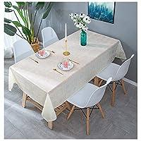 ルーム、コーヒーテーブルダイニングPVCテーブルカバー、抗漏れ、防水性と耐油性、キッチンを、エンボス加工ダイニングテーブル (色 : B, Size : 138X138CM)