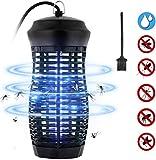 Zenoplige Insektenvernichter, Elektrischer Mückenlampe IPX4 wasserdichte Insektenfalle, 9W Leuchtstoffröhre Effektive Bekämpfung von Fliegenden Insekten Für Innen Schlafzimmer (Schwarz-1)
