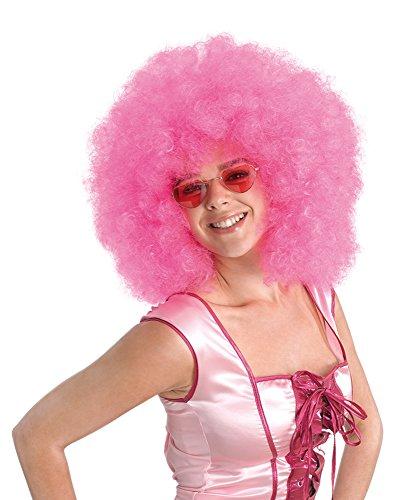 Bristol Novelty BW661 Afro pruik, roze, eenheidsmaat