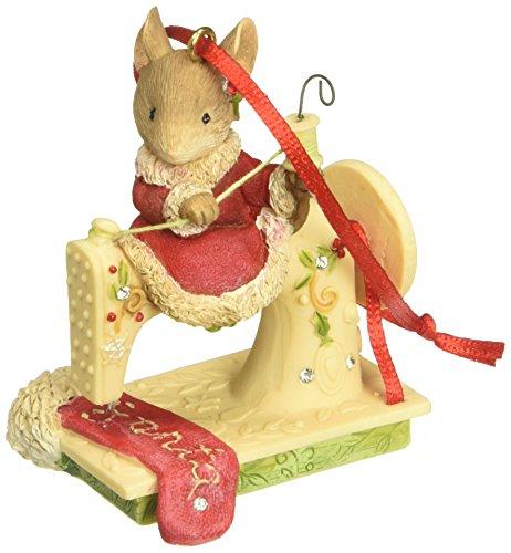 Enesco Sew Happy It's Christmas Ornament, Multicolor