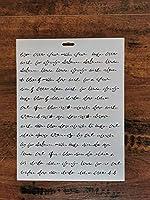 レターページステンシル 8.5 x 10インチ - 引用句 名言 文字ステンシル ペイントテンプレート用