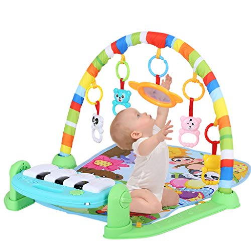 Baby Play Mat Activity Gym | Musical Kick and Play Newborn Mat with Piano, Fitness Rack Crawling Mat Activity Center Toys Gym Floor Playmat for Boys Girls… (from US, C)