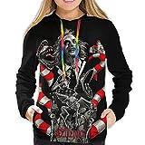 JAMES BUTCHER Beetlejuice Womans Hoodies Sweatshirt Pullover Hoodie Sweatshirt Girlfriend Long Sleeve Casual Shirts Active Sweatshirt Outwear XX-Large Black