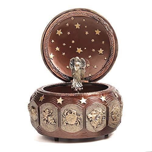 Muziekdoos 12 sterrenbeeld sterrenbeeld geschenk muziekdoos muziekdoos gift muziek romantisch verjaardagscadeau Kerstmis QPLNTCQ (Color : Capricorn, Size : 10 * 12cm)