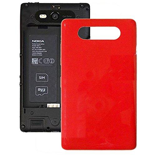 Hongmeish Sustituto de Partes Antiguas o Malas. Botón IPartsBuy Cubierta de batería contraportada + Lateral for Nokia Lumia 820 Accesorios (Color : Red)