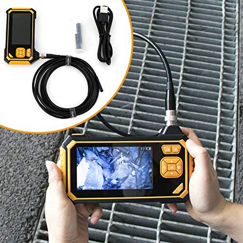 """Kaibrite - Cámara endoscópica industrial (6 ledes, HD, digital, pantalla LCD de 4,3"""", 8 mm)"""