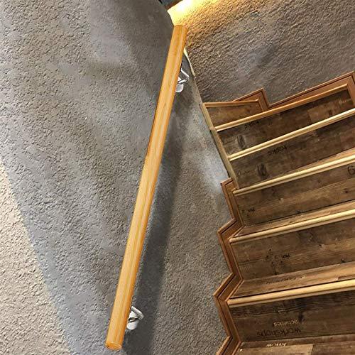 Barra De Agarre De Madera Antideslizante para Pasamanos De Escalera, Kit De Pasamanos De 50~600 Cm para Montaje En Pared, Varilla De Soporte para Barandillas De Escaleras De Pasillo (Size : 300cm)