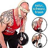 C.P. Sports Zughilfen Kopf und Nackentrainer Leder Gepolstert mit Kette Krafttraining - Bodybuilding
