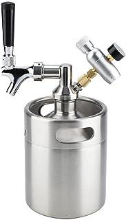 ビール樽 ミニ樽 ミニケグ ビールディスペンサー ビールサーバー ステンレス製 2L 発酵 貯蔵 醸造 シルバー 家庭/屋外/バーベキュー用