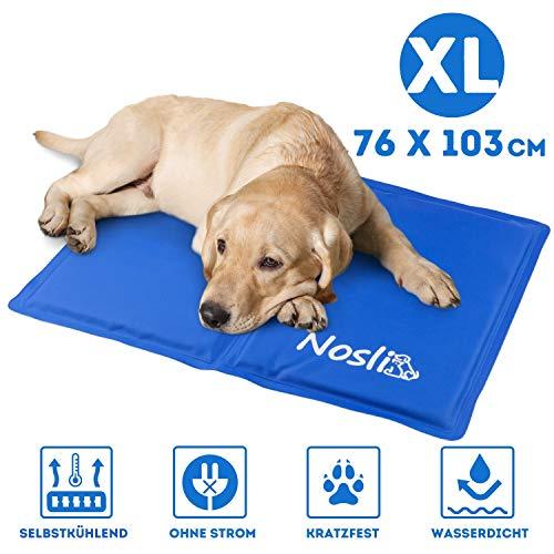 Nosli Kühlmatte für Hunde und Katzen - Idealer Schutz bei Hitze für Haustiere - Kältematte Selbstkühlend in verschiedenen Größen/Sea Blue XL