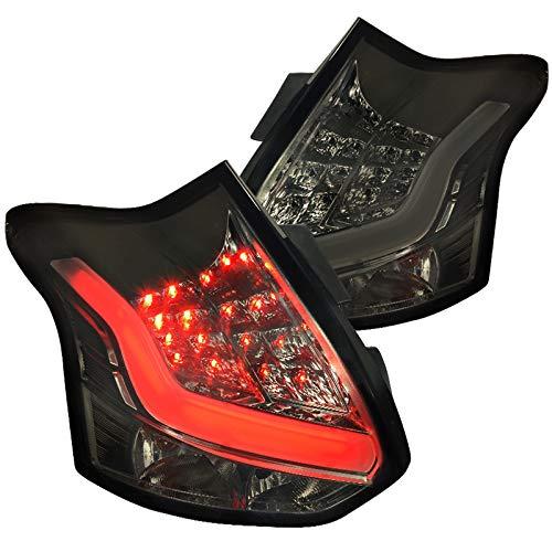 Spec-D Tuning for Ford Focus Hatchback Full LED Chrome Smoke Tail Lights Brake Lamp
