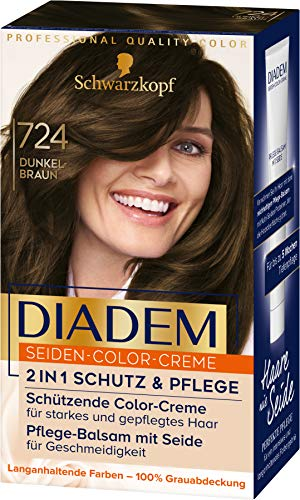 Diadem Seiden-Color-Creme 724 Dunkelbraun Stufe 3, 3er Pack(3 x 170 ml)