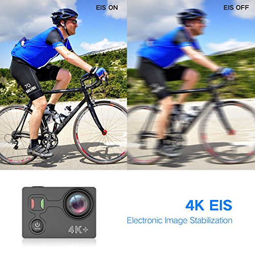 GJT 4K Sports Action Camera GP1000 WIFI 14MP Ultra HD EIS 30M Waterproof Remote Camcorder DV With Panasonic Sensor 170° Wide-Angle Lens, 2 Batteries, Portable Carrying Bag and Mounting Accessories Kit