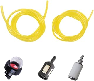 Ketofa Primer Bulb 188-512-1 with 6616 6617 Fuel line Hose, Zf-1 Fuel Filter, 530095646 Fuel Filter Replace for 3214 3216 3516 Chainsaws Carburetor Gas Saw