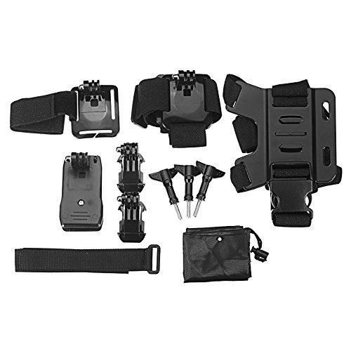 HELEISH Mijia Mini cámara de deportes for uso al aire libre con correa de pecho/Shell impermeable/Clip de mochila Piezas de montaje de bricolaje
