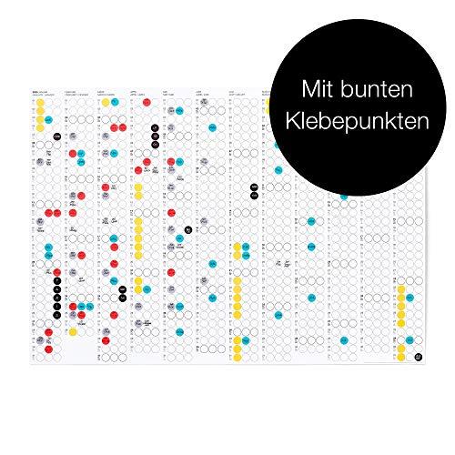 Dot on - Calendario 2020, diseño con texto en alemán