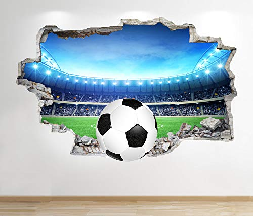 1Stop Graphics Shop FOOTBALL WALL STICKER 3D LOOK - BOYS KIDS BEDROOM STADIUM WALL DECAL Z667 Size: Large