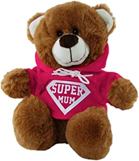 Super Mum Brown Bear with Hoodie 25cm Mother's Day Soft Plush