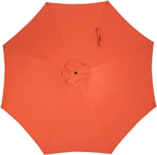 Crestlive Products Universal Patio Umbrella Replacement Canopy for 10ft 8 Ribs Offset Umbrellas (Orange)