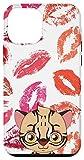 iPhone 12 mini Cartoon Kitten Lip Kisses for Women Girls Case