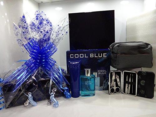 Confezione regalo di lusso cesto regalo per lui ~ Cool Blue 2PC profumo set regalo + l' Oreal Men...