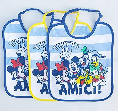 Set 6 bavaglini lunghi Disney fantasie assortite (Topolino)