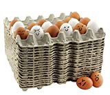 30-Count Egg Flats (18 Trays); Biodegradable Recycled Material Chicken Egg Cartons, Each H...