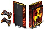 247 Skins Graphics kit Sticker Decal Compatible with PS3 PlayStation 3 SUPER SLIM and Dualshock Controllers - Meltdown