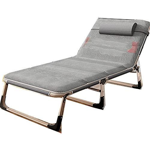 Tumbona multiposición, cama plegable individual, zapatos de almuerzo simples para el hogar, silla plegable para adultos de oficina, cama militar portátil, 6 WHY666