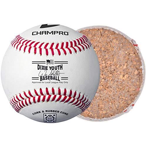Champro Dixie - Balón de béisbol Juvenil (Blanco, 22,8 cm)